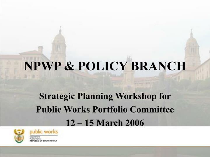 npwp policy branch n.