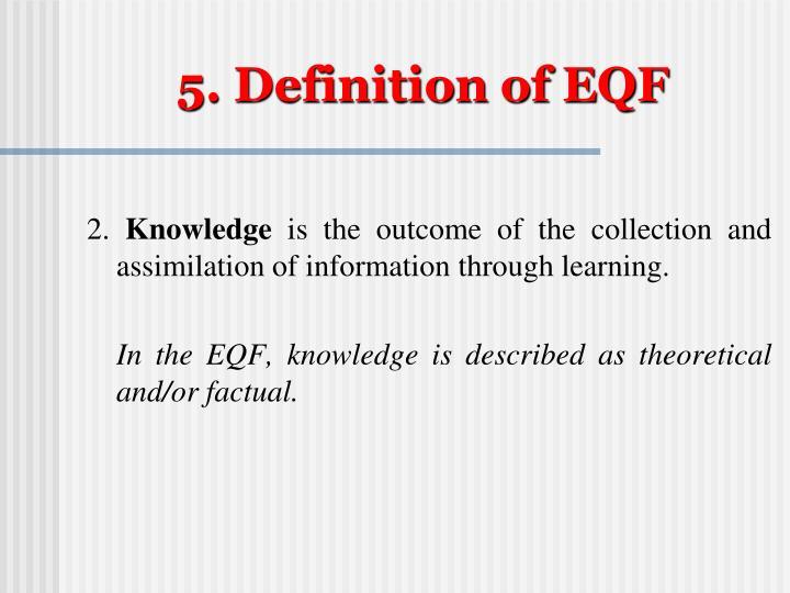 5. Definition of EQF