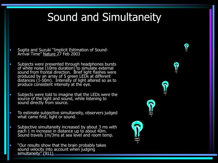 Sound and Simultaneity
