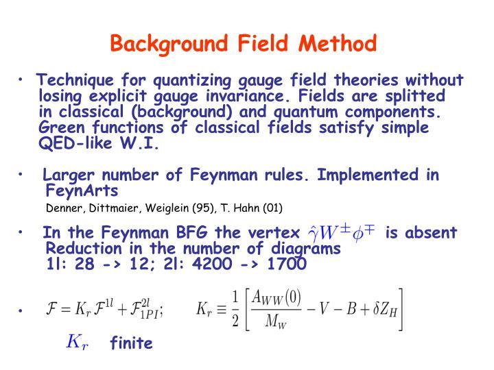 Background Field Method