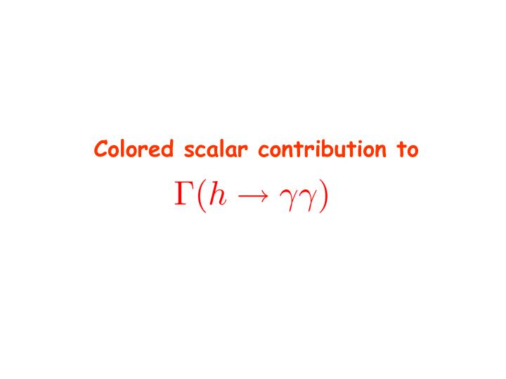 Colored scalar contribution to