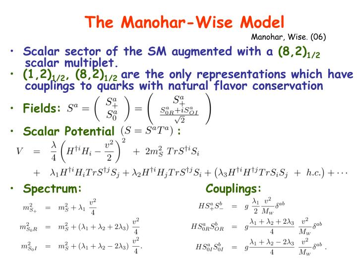 The Manohar-Wise Model