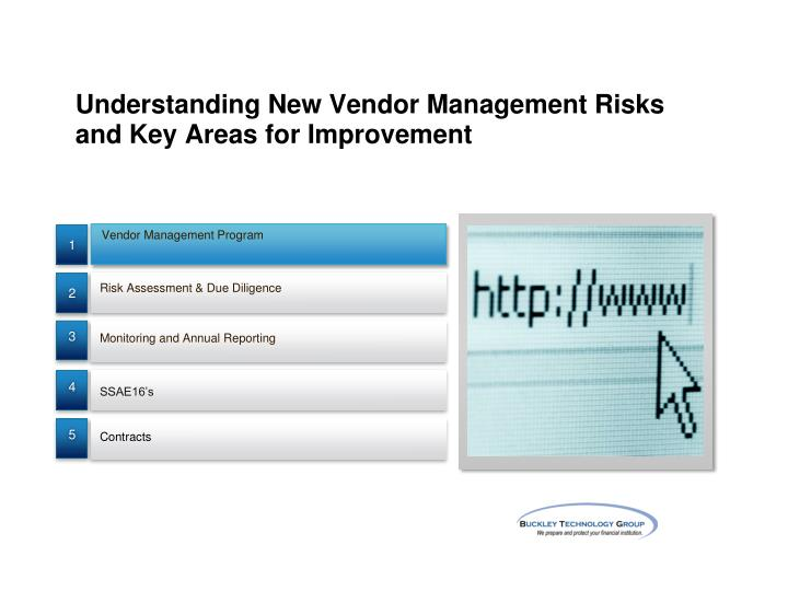 Understanding New Vendor Management Risks and Key Areas for Improvement