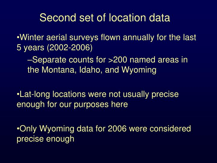 Second set of location data