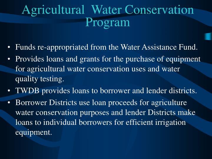Agricultural  Water Conservation Program