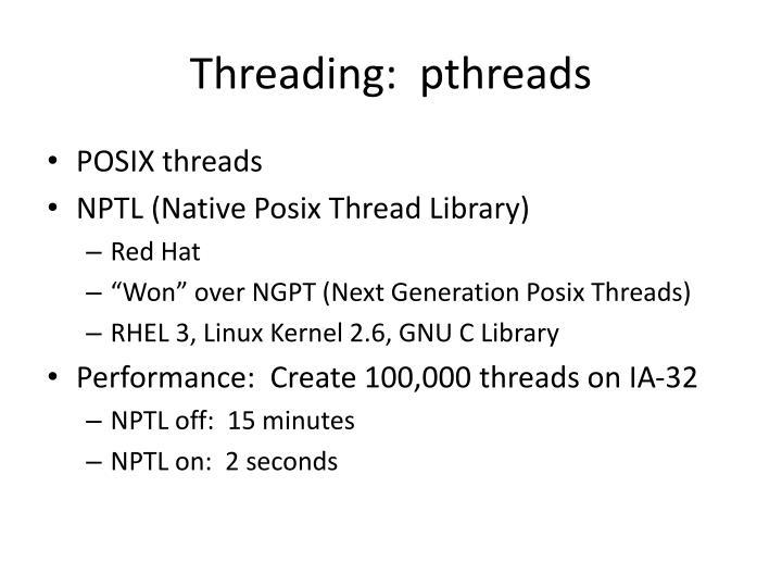 Threading pthreads