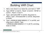 building var chart