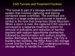 cso tunnels and treatment facilities