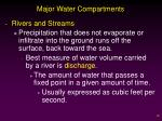 major water compartments1