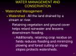 water management and conservation