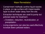 water remediation
