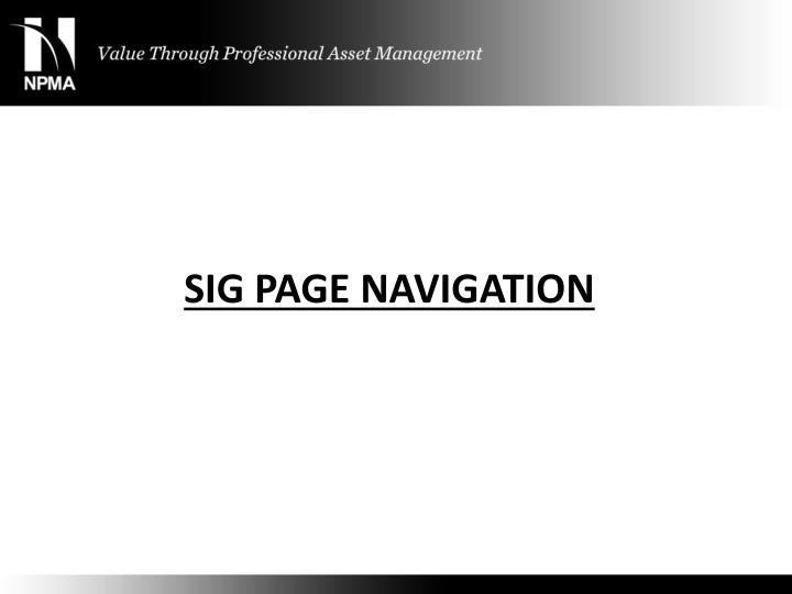 SIG Page Navigation