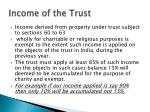 income of the trust