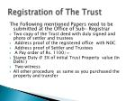 registration of the trust