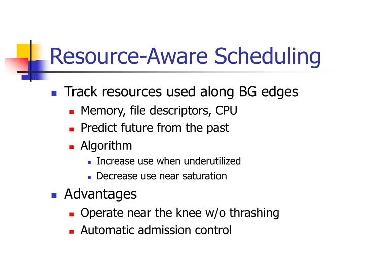 Resource-Aware Scheduling
