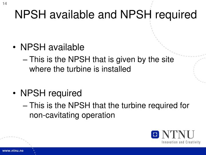 NPSH available