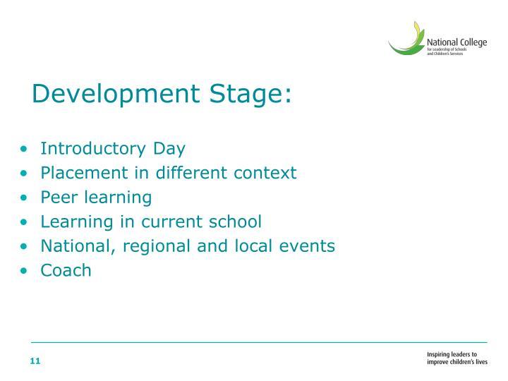 Development Stage: