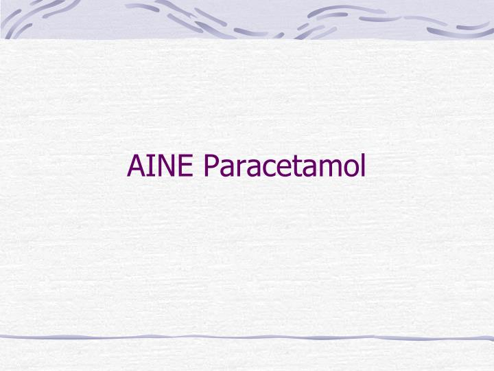 AINE Paracetamol