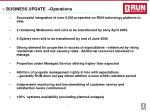 business update operations