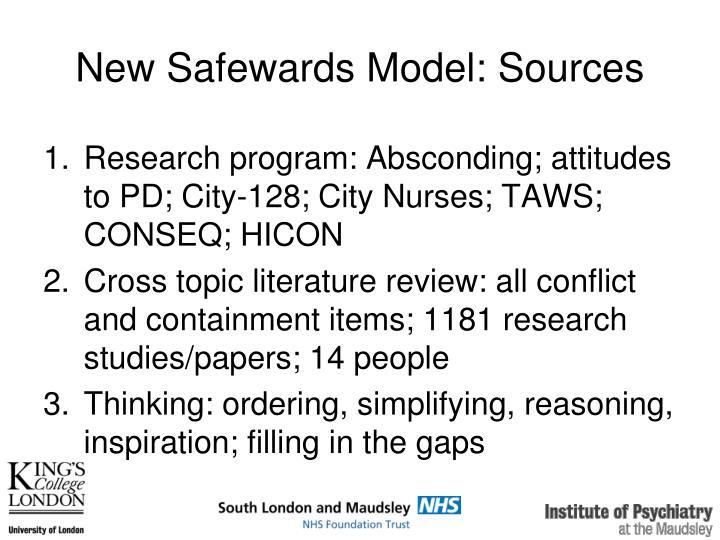 New Safewards Model: Sources