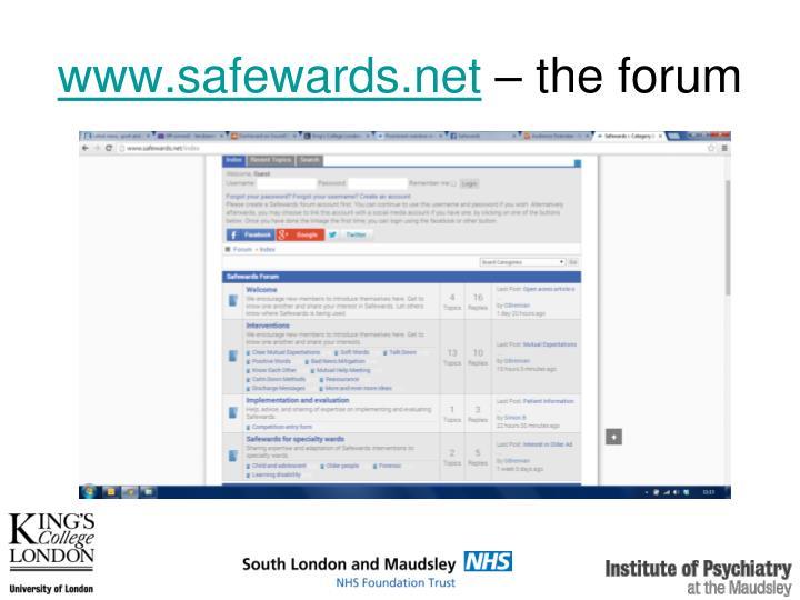 www.safewards.net
