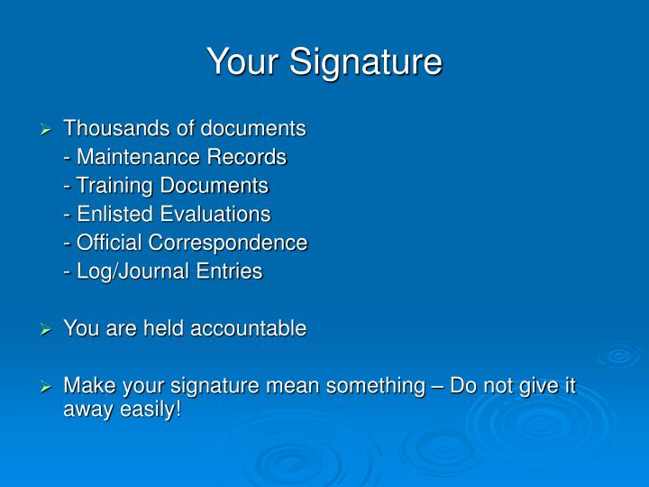 Your Signature