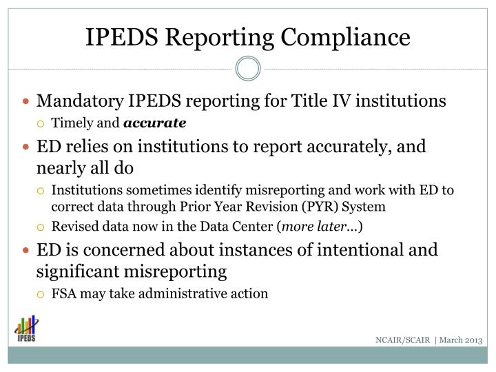 IPEDS Reporting Compliance