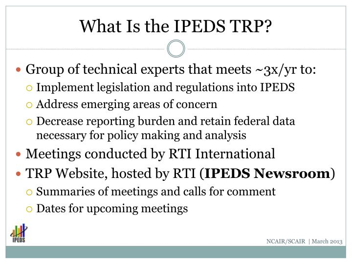 What Is the IPEDS TRP?