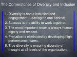 the cornerstones of diversity and inclusion