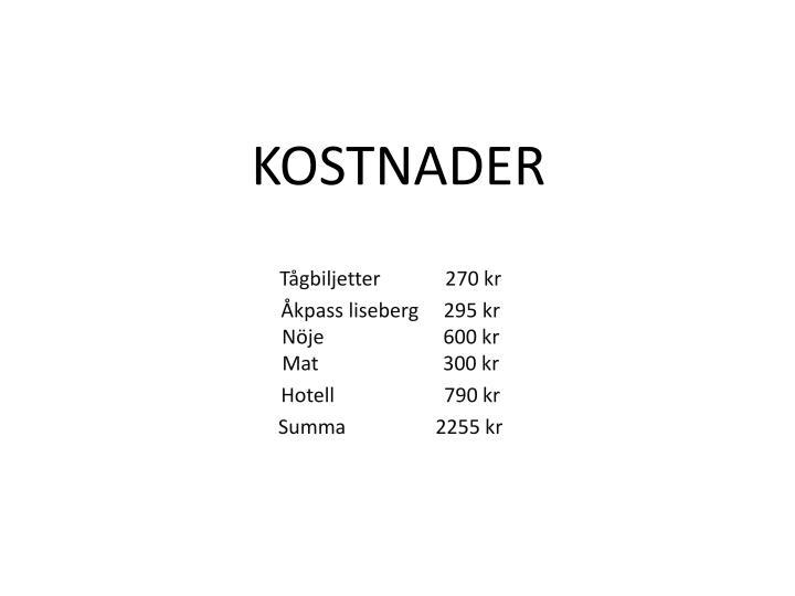 KOSTNADER