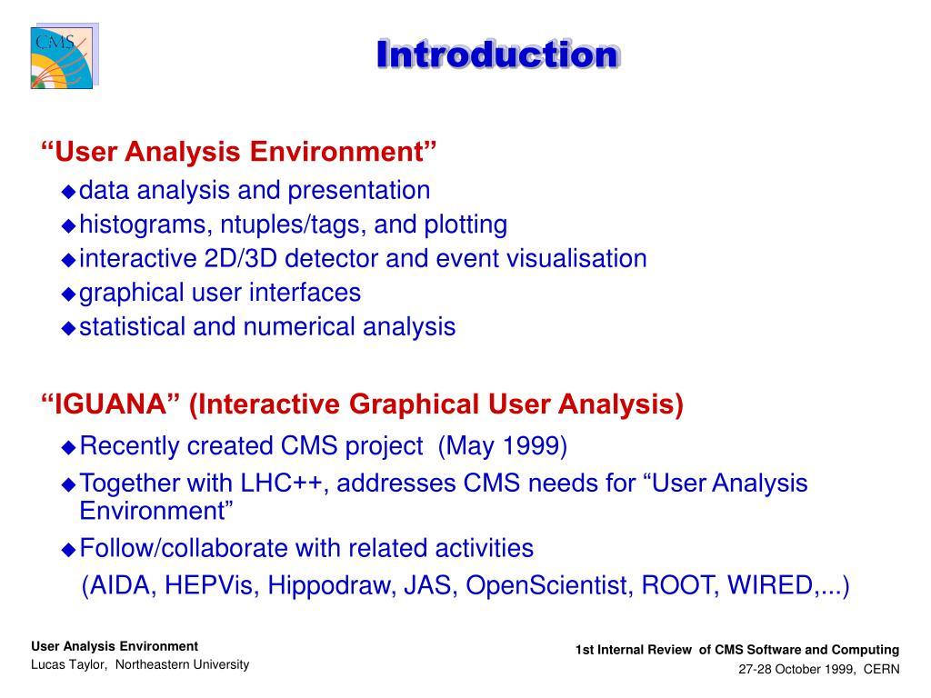 PPT - User Analysis Environment PowerPoint Presentation - ID:4689151