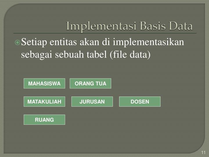 Implementasi Basis Data