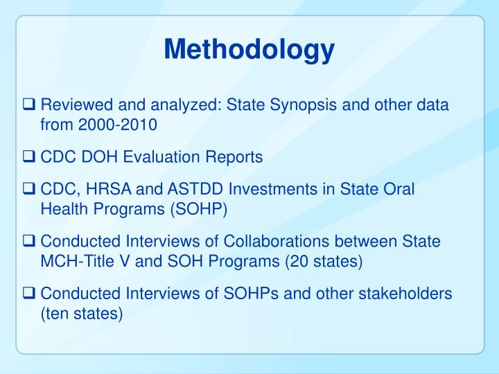 Reviewed and analyzed: State Synopsis and other data from 2000-2010