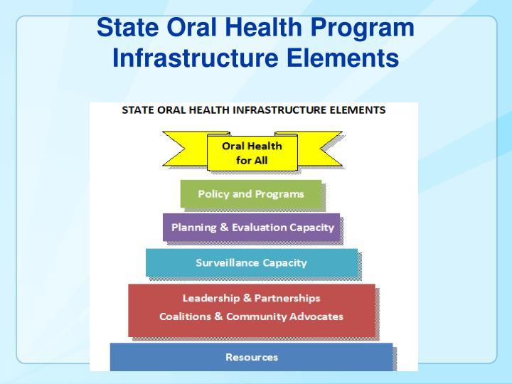 State Oral Health Program Infrastructure Elements
