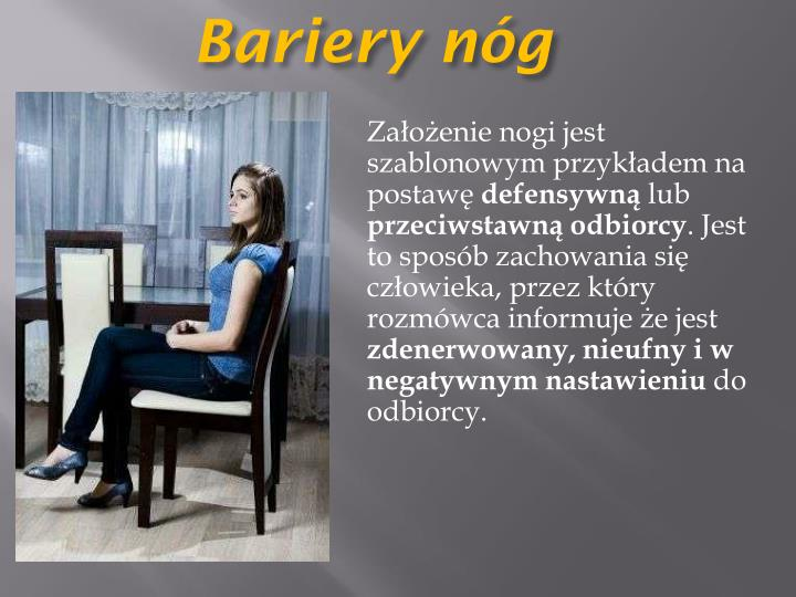 Bariery nóg