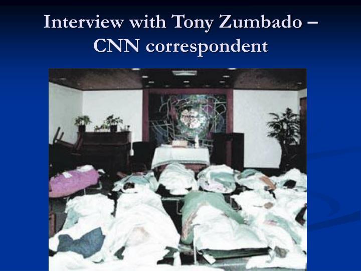 Interview with Tony Zumbado –