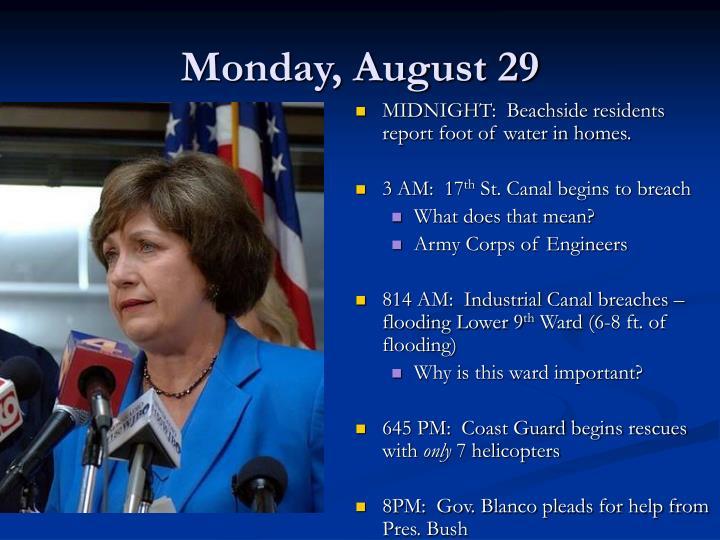 Monday, August 29