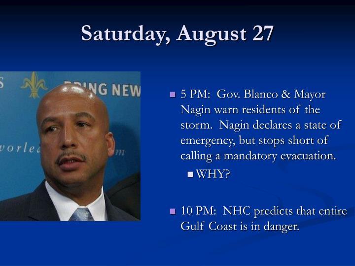 Saturday, August 27