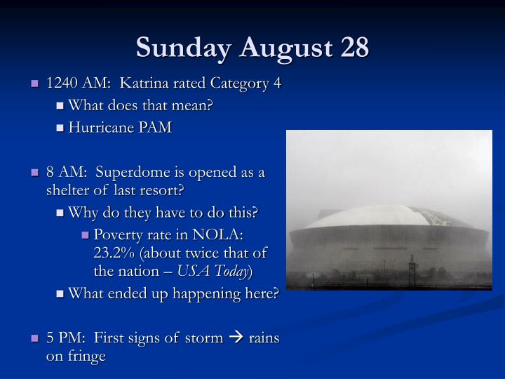 Sunday August 28
