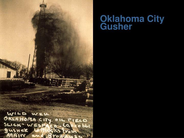 Oklahoma city gusher