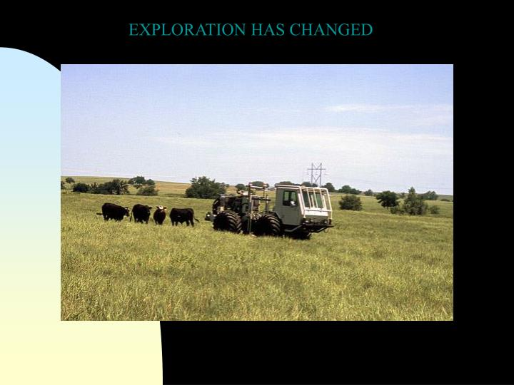 EXPLORATION HAS CHANGED