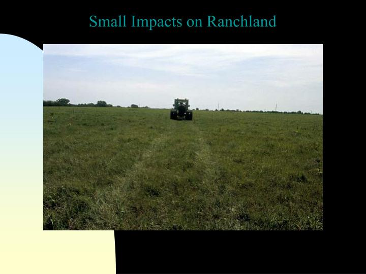 Small Impacts on Ranchland