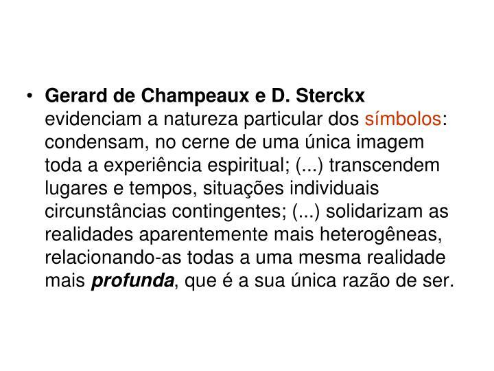 Gerard de Champeaux e D. Sterckx