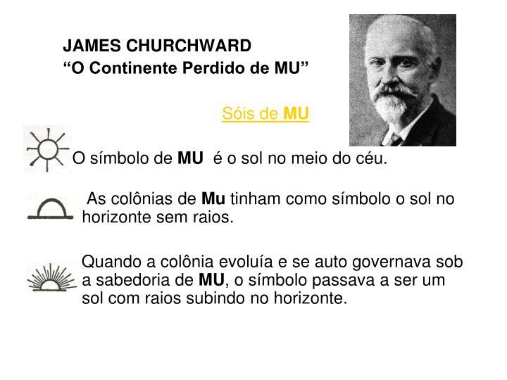 JAMES CHURCHWARD