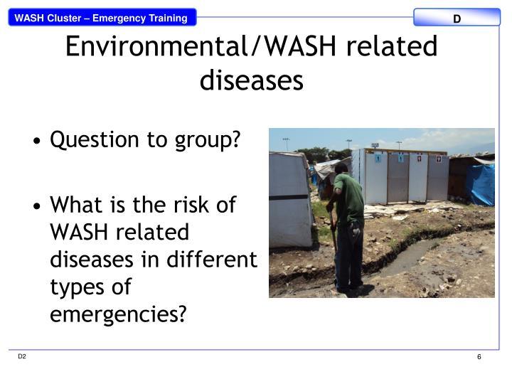 Environmental/WASH related diseases