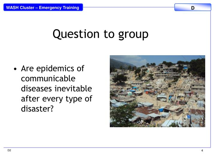 Question to group
