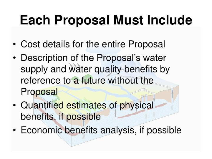 economic proposal