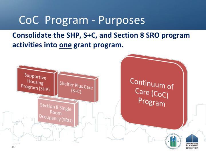 CoC  Program - Purposes