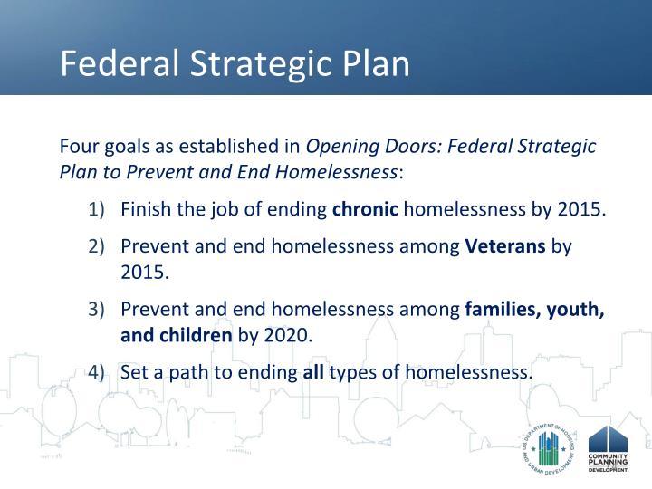Federal Strategic Plan