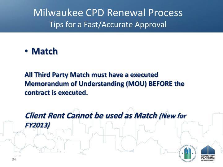 Milwaukee CPD Renewal Process